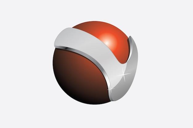 A letra v circunda a esfera