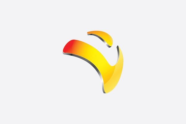 A letra v fez um logotipo em formato 3d