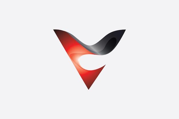 A letra v tem o formato de um funil triangular