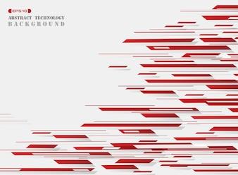 A listra vermelha da tecnologia do teste padrão alinha o fundo.