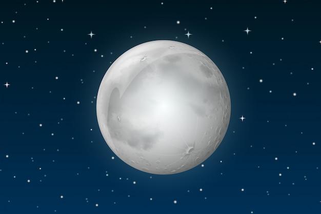 A lua no céu