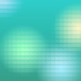 A luz colorida passa por blocos translúcidos