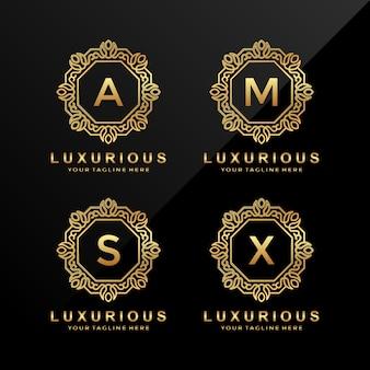 A, m, s, x carta logo design
