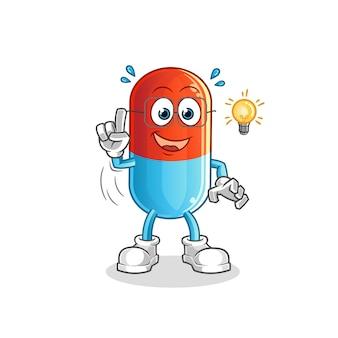 A medicina teve uma ideia cartoon mascote