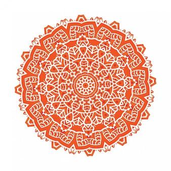 A meditação étnica da mandala do fractal psicodélico parece floco de neve