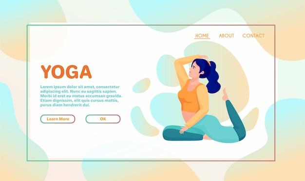 A meditação traz benefícios para a saúde do corpo, da mente e das emoções. ilustração do vetor dos desenhos animados. personagem feminina. mulher voa. prática de pose de lótus de ioga. trabalhador de escritório evita o estresse