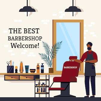 A melhor barbearia bem-vinda do especialista.