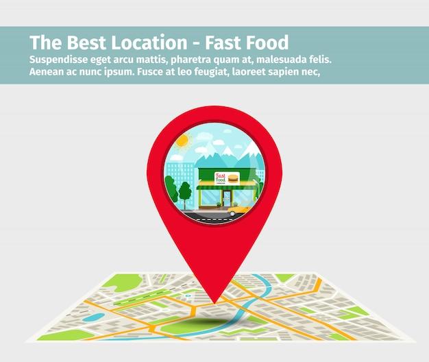 A melhor localização fast food