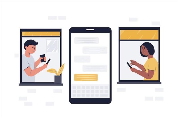 A mídia social facilita a comunicação e a conversa, como se estivessem sempre próximos um do outro