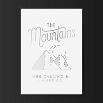 A, montanhas, logotipo, ilustração
