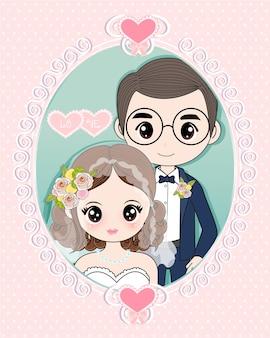 A noiva e o noivo entram na cerimônia de casamento