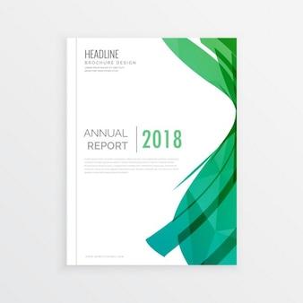 A página abstract moden projeto capa de revista tema verde relatório abrangem annial brochura mínima