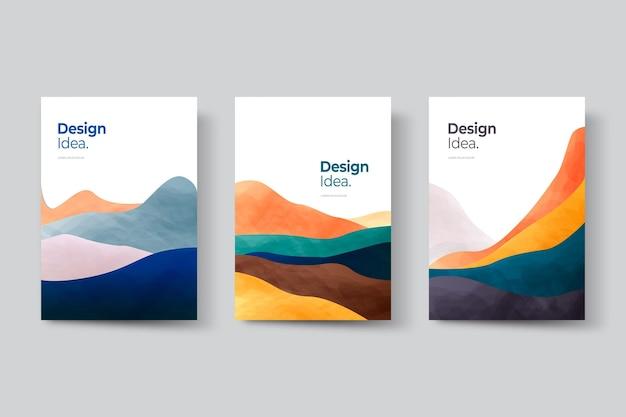 A paisagem abstrata de gradiente cobre a coleção