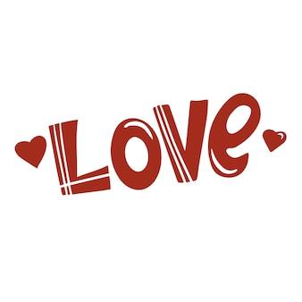 A palavra amor letras à mão