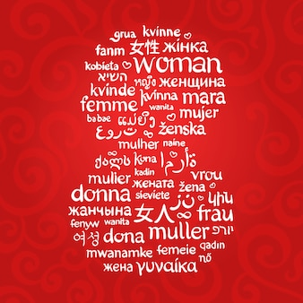 A palavra mulher