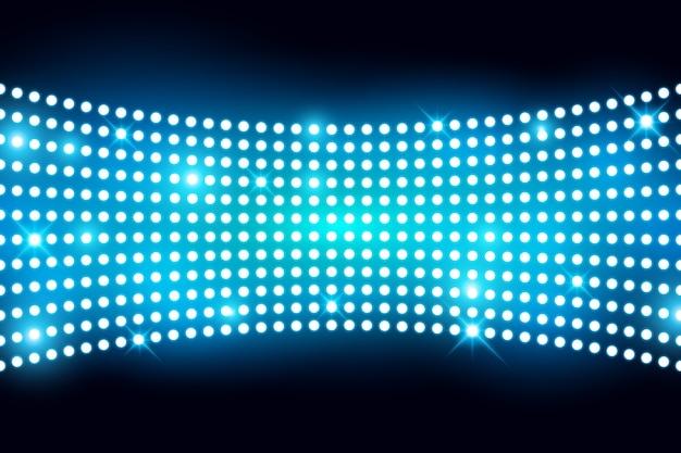 A parede conduziu a tela leve com ilustração vetorial lightbulp