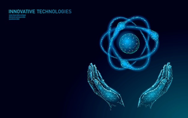 A partícula do átomo assina dentro o mapa do mundo das mãos. perigo global de armas militares nucleares. segurança do país de defesa da energia atômica. ilustração de conceito de tratado de violência internacional de armas nucleares