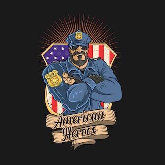 A polícia é heróis da américa