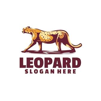 A pose de um leopardo caminhando galantemente. ótimo para vários tipos de negócios.