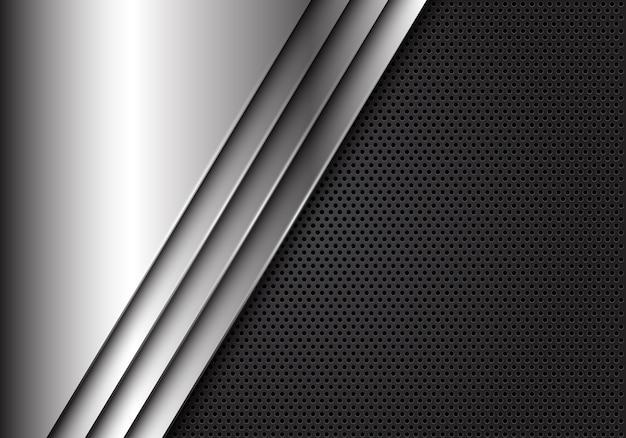 A prata abstrata plat sobrepõe na malha cinzenta do círculo.