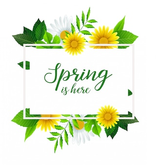 A primavera é aqui modelo de banner