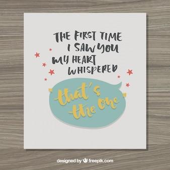 A primeira vez que te vi cartão