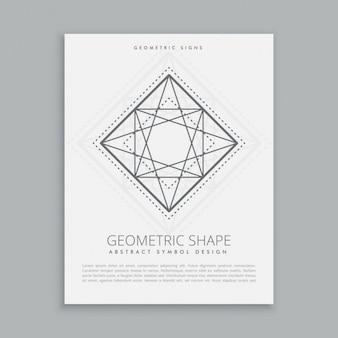 A religião sagrada forma geométrica