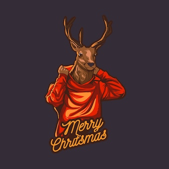 A rena do natal veste o hoodie