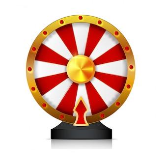 A roda da fortuna isolou o objeto do vetor no fundo branco.