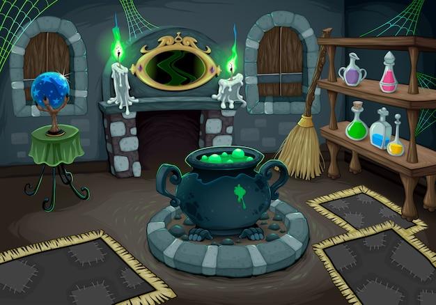 A sala de bruxa