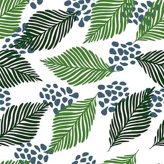 A selva exótica abstrata planta o papel de parede do vetor da textura.