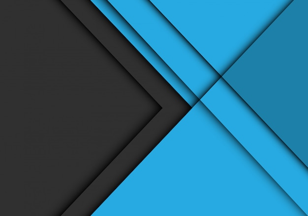 A seta cinzenta sobrepõe no fundo futurista moderno azul.