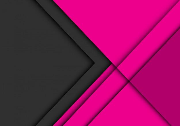 A seta cinzenta sobrepõe no fundo futurista moderno cor-de-rosa.
