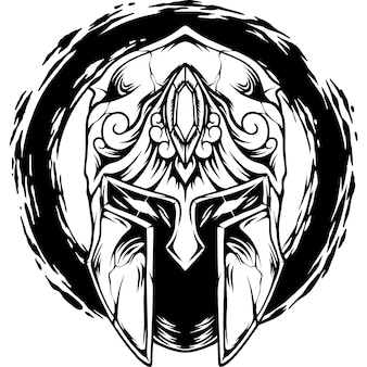 A silhueta do capacete espartano