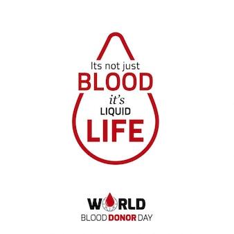 A sua não apenas de sangue seu cartaz tipografia vida líquido