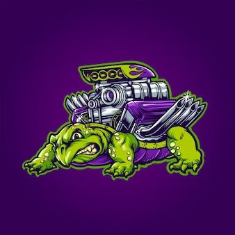 A tartaruga v8
