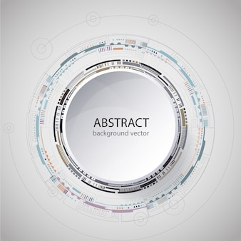 A tecnologia abstrata circunda o fundo azul do vetor. ilustração do vetor