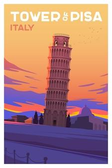 A torre de pisa na hora de viajar