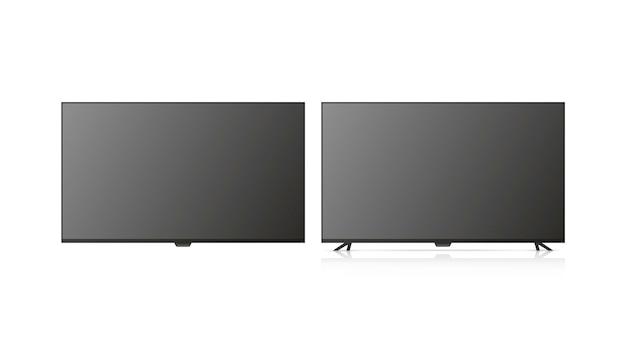 A tv está desligada. tv isolada no fundo branco.