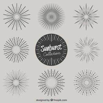 A variedade de ornamento sunburst definir