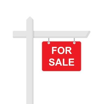 À venda ícone de sinal de estilo simples