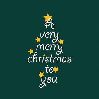 A very merry christmas-lhe cartão de lettering