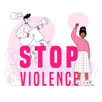 A violência contra as mulheres acaba com o abuso