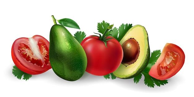 Abacate e tomate