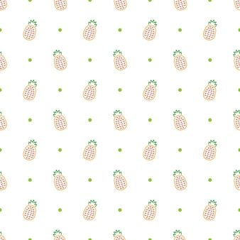 Abacaxi sem costura de fundo