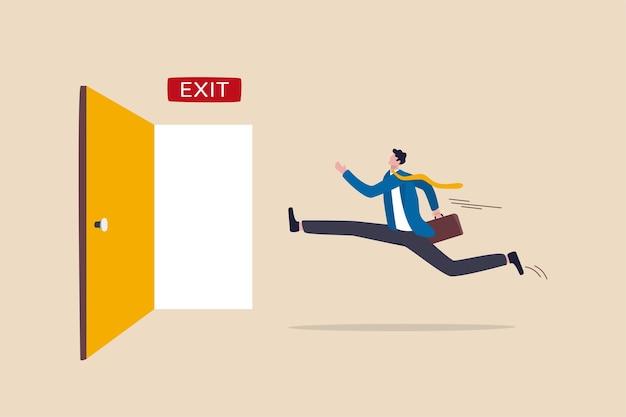 Abandone o trabalho de rotina, escape ou solução para um beco sem saída para o sucesso