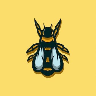 Abelha de ícone do logotipo