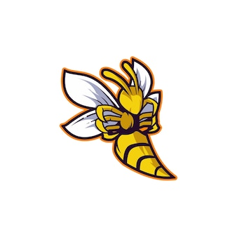 Abelha, inseto amarelo mel, vespa