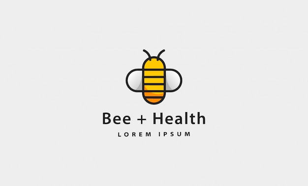 Abelha saúde ícone simples logotipo ilustração