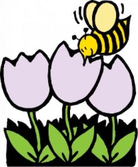 Abelhas e flores